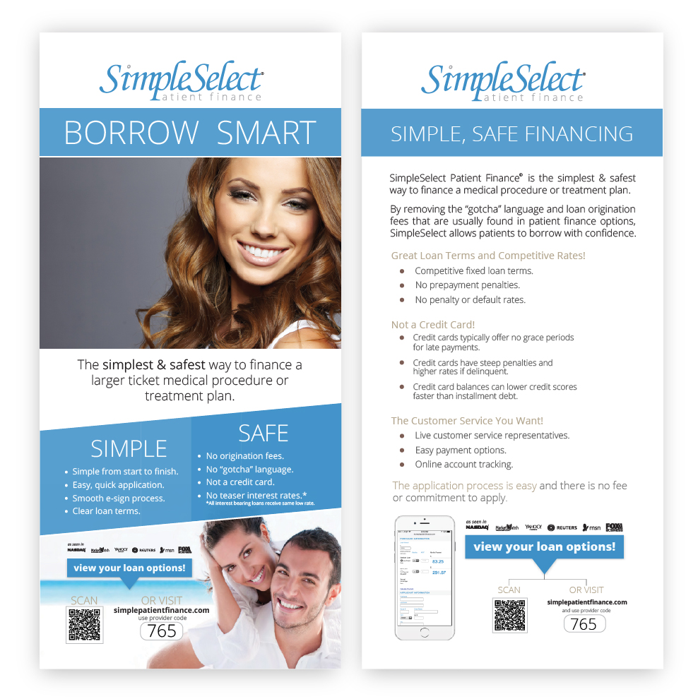 SImpleSelect Patient Finance® Patient Information Card